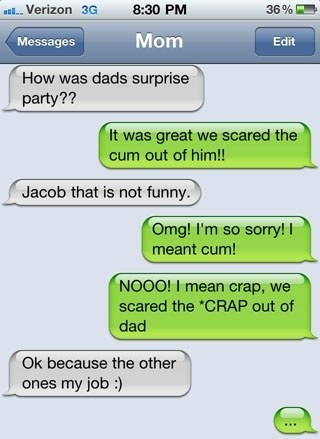 dads birthday mom Eight Absurd Texts That Make You Wish Your Mom Didnt Have An iPhone