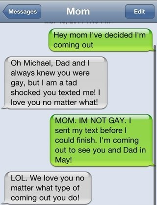 mom coming out text Eight Absurd Texts That Make You Wish Your Mom Didnt Have An iPhone
