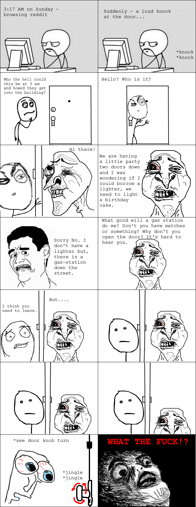 rage comic creepy neighbors The Six WTFiest Rage Cartoons