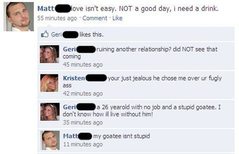 stupid goatee facebook Nine Hilariously Awkward Facebook Interactions