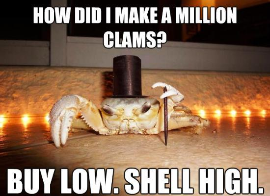 fancy crab meme million clams Meet The Top 1 Percent: Fancy Crab