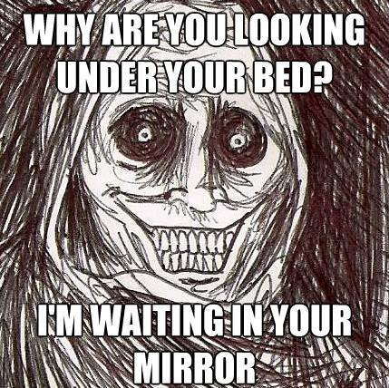 creepy guest bed The Horrifying Houseguest Meme