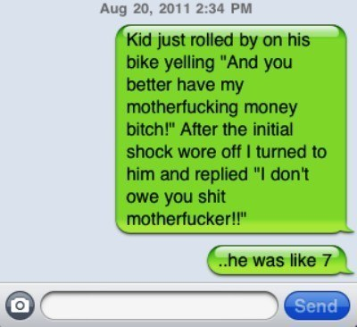 wtf iphone text bad mouthed kid The Eight Most WTF iPhone Texts