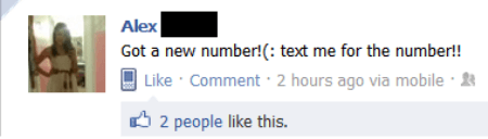 dumbest facebook posts text new number The Dumbest Facebook Posts Of All Time