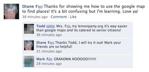 funniest facebook posts grandma lemon party The Funniest Facebook Posts Of All Time