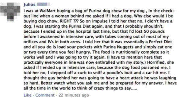 funniest facebook posts walmart line prank The Funniest Facebook Posts Of All Time