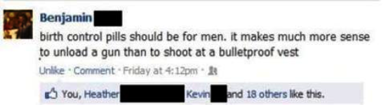 funniest facebook posts 2012 birth control men The Funniest Facebook Posts Of 2012