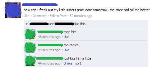 funniest facebook posts 2012 freak out prom date The Funniest Facebook Posts Of 2012