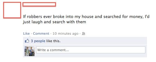funniest facebook posts 2012 robbers The Funniest Facebook Posts Of 2012