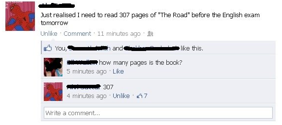 funniest facebook posts 2012 the road The Funniest Facebook Posts Of 2012