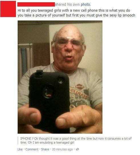awkward facebook pictures grandpa duckface The 27 Awkwardest Facebook Pictures Ever