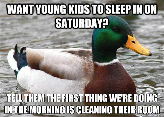 actual advice mallard kids sleep in The Genius Of Actual Advice Mallard