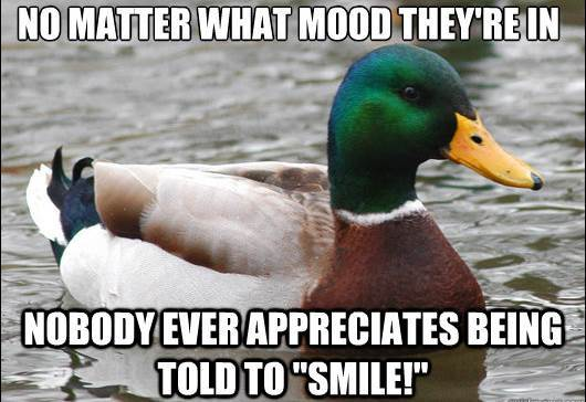 actual advice mallard smile The Genius Of Actual Advice Mallard